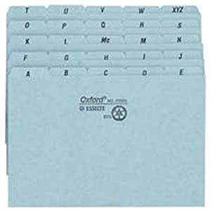 Esselte SelfTab Style Index Card Guide