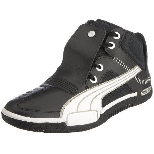 Puma Men's Street Cruiser Mid Ducati Boot Black/White 301996-02 9 UK