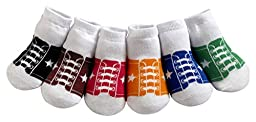 JazzyToes Baby Boys' Socks Sneakers 0-12 Months Multi