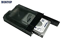 MOSTOP(TM) 3.5 Inch Internal Built-in Sata HDD Hard Drive Protective Storage Carrying Case Mobile Rack Drawer Caddy