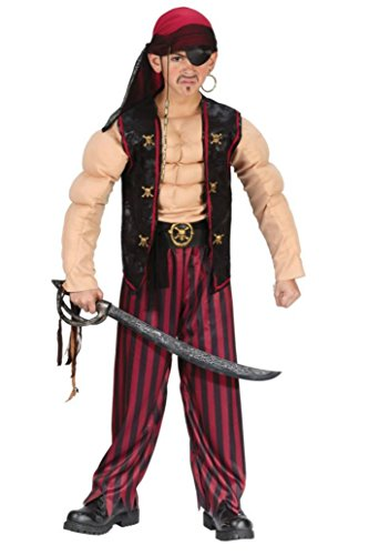 Boys Pirate Muscle Kids Child Fancy Dress Party Halloween Costume
