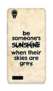 AMEZ be someone's sunshine when their skies are grey Back Cover For Lenovo A3900