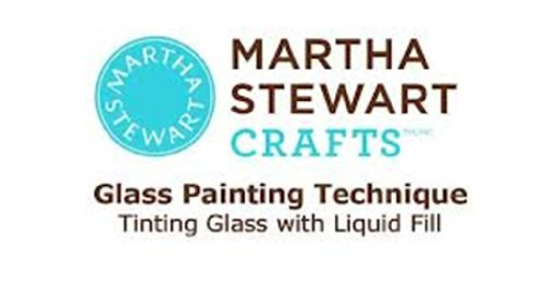 Martha Stewart Frost Translucent Glass Paint, 2-Ounce, Wedding Cake front-635939