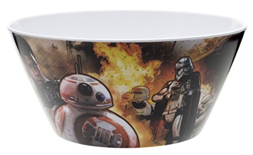 "Zak! Designs Cereal Bowl with Star Wars The Force Awakens Graphics, Break-resistant and BPA-free Melamine, 6"" diameter"
