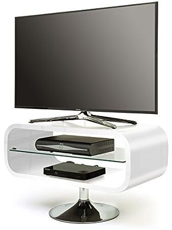 """Centurion Opod - Mueble para pantalla plana de TV (19-37""""), color blanco laqueado"""