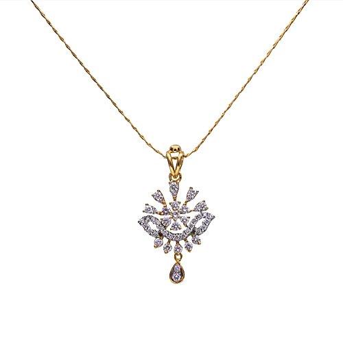 Joyalukkas 18k Yellow Gold and Diamond Pendant