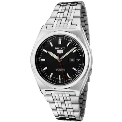 Seiko Men's SNK649K Seiko 5 Automatic Black Dial Stainless Steel Watch