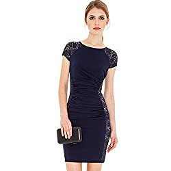 Jaune Women's Dress (Jbw151012043_Midnight Blue_Small)