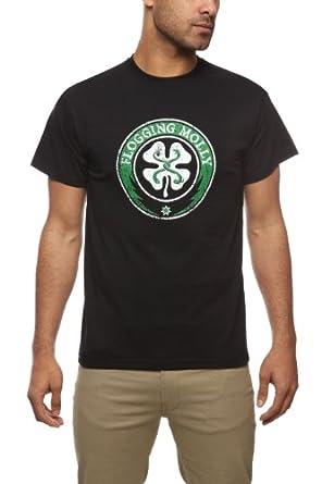 Plastichead Herren T-Shirt Flogging Molly-Shamrock, Gr. Small, schwarz