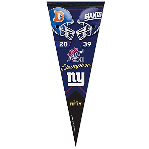 New York Giants Super Bowl Pennant, Giants Super Bowl Pennant ...