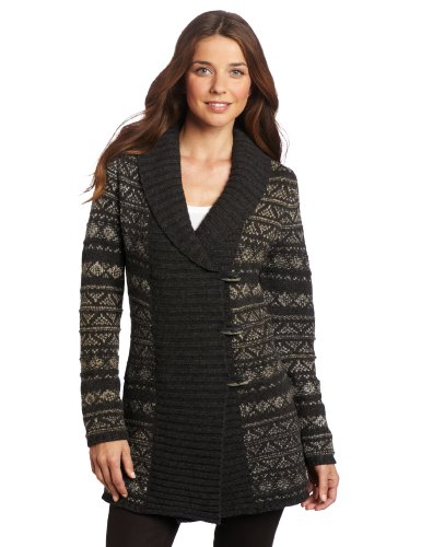 Woolrich Women's Denton Hill Sweater Coat, Charcoal, X-Large