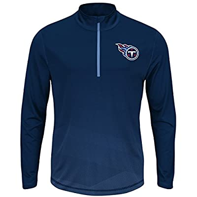 "Tennessee Titans Majestic NFL ""Intimidating"" 1/2 Zip Mock Neck Pullover Shirt"