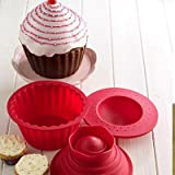 Giant Mega Cupcake Mould Big Top Cake Baking Set Tinby Giant