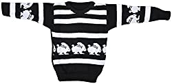 AKHIL & AARNA Baby Wool Sweater (AA-2016-0131, Black, 3-4 Years)