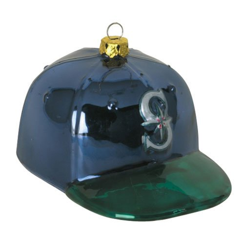 "Seattle Mariners Mlb Glass Baseball Cap Ornament (4)"" at Amazon.com"