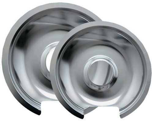 """Range Kleen - Chrome Drip Pans, 2 Pack (Style D) [3 Pieces] *** Product Description: Range Kleen - Chrome Drip Pans, 2 Pack (Style D) Pack Includes One 6"""" Pan & One 8"""" Pan Fits Most Hinged Electric Ranges Including Ge(R), Hotpoint(R) & Kenmore(R) *** front-627443"""