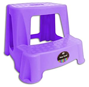 Amazoncom childrens kids 2 step up stool toilet potty for Bathroom step stool for toddlers
