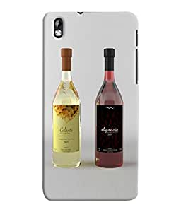 Fuson 3D Printed Wine Designer Back Case Cover for HTC Desire 816 - D800
