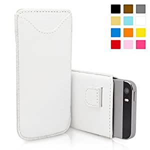 Snugg iPhone 5 / 5S Case - Leather Pouch with Lifetime Guarantee (White) for Apple iPhone 5 / 5S