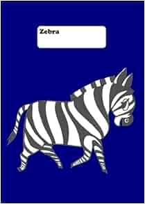 tagebuch notizbuch zebra blau din a4 liniert 108 seiten german edition edition. Black Bedroom Furniture Sets. Home Design Ideas