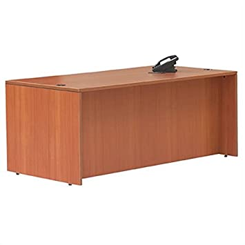 """Offices to Go Rectangular Wood Home Office Desk Shell - 48"""" wide in American Cherry"""