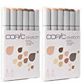 Copic Markers 6-Piece Sketch Set, Skin Tones I Pack of 2 (Color: 2 Pack (Skin Tones 1))
