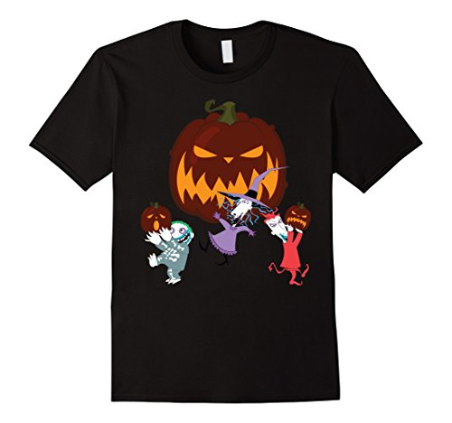 [Men's Lock Shock and Barrel Halloween Funny Tshirts Large Black] (Lock Shock And Barrel Costumes For Kids)