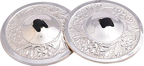Wevez Women's 2 Pairs Belly Dancing Cymbals, One Size, Silver