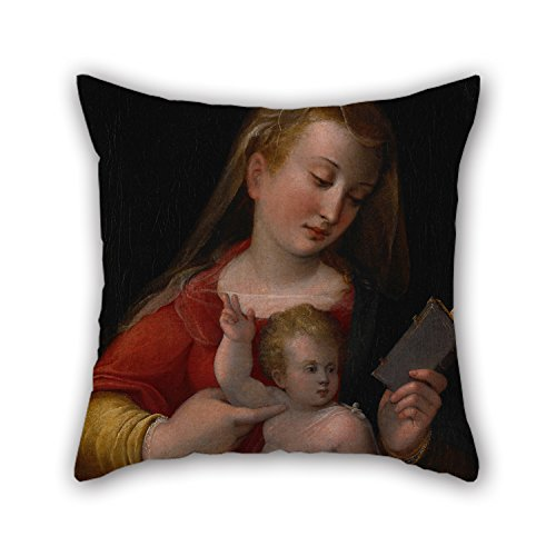 [Uloveme Cushion Covers Of Oil Painting Longhi, Barbara - Madonna And Child 18 X 18 Inches / 45 By 45 Cm,best Fit For Wife,divan,kids Girls,christmas,office,family Double] (Madonna Material Girl Pink Dress Costume)