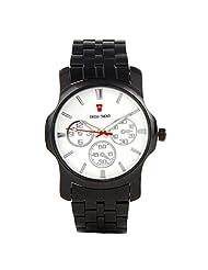 Swiss Trend Sleek White Dial Mens Watch (Artshai-1640-Sleek)