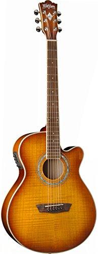 Washburn Ea15Itb Festival Series Mini Jumbo Acoustic-Electric Guitar, Ice Tea Burst Finish