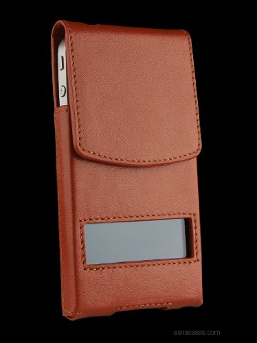 SENA CREATIVO lEATHER POUCH CASE FOR IPHONE 4/4S TAN Black Friday & Cyber Monday 2014