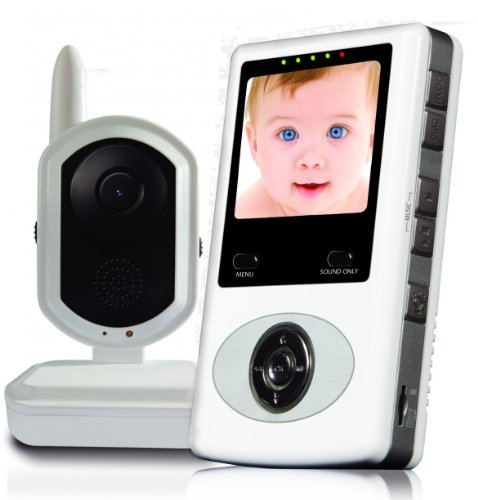 buy db tech digital video baby monitor with built in ir leds for up to 16ft night vision built. Black Bedroom Furniture Sets. Home Design Ideas