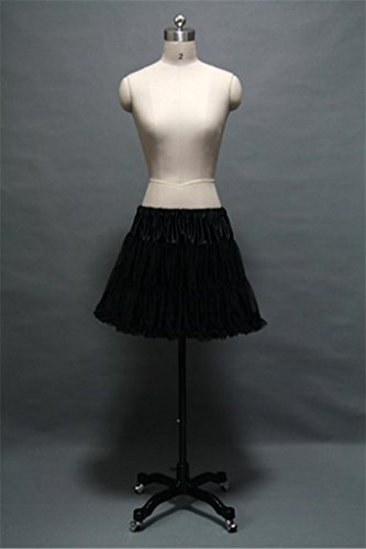 Black Rockabilly/Crinoline Short Tulle Petticoat Tutu for Prom/Costume Dress