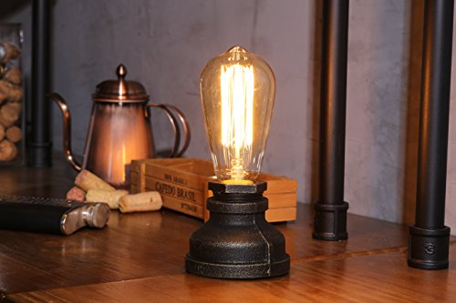 Kiven Steampunk Iron Table Lamp Vintage Style Desk Light E27 Iron Base Modern Antique Table Light Bulbs Not Included 4