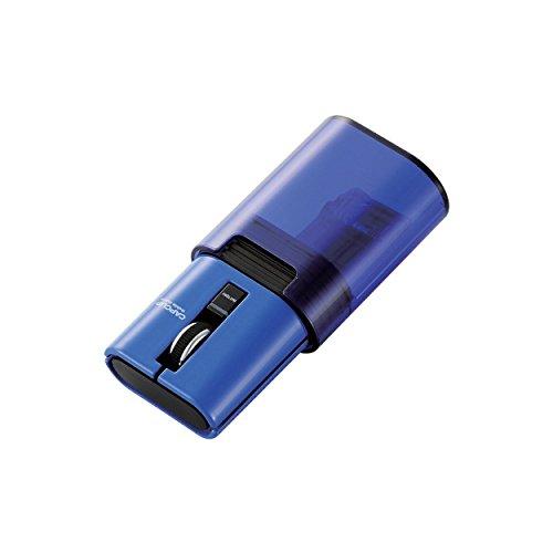 ELECOM マウス Bluetooth CAPCLIP 3ボタン IRLED搭載 充電式 ブルー M-CC1BRBU