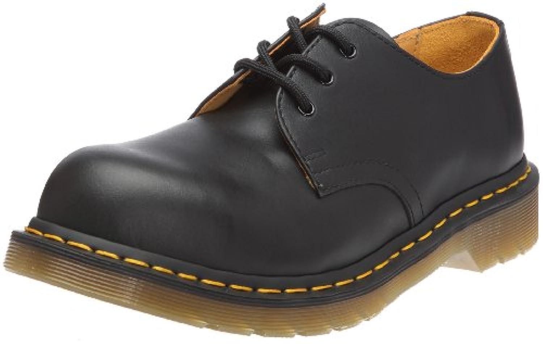 Dr. Martens Mens 192511021 1925 5400 Uniform Dress Shoe, Black Fine - 9.5