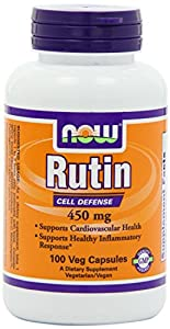 Now Foods Rutin 450mg, Veg-Capsules, 100-Count in each (Pack of 2)