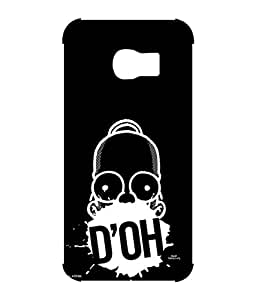 Simpsons - D'OH Black - Case for Samsung S6 Edge