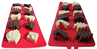 3 Pack Christmas Silicone Candy Molds. Make Cake, Chocolate, Gummies, Ice. Gingerbread House Cake Mold & 2 Cute Xmas Trays for Candy, Chocs & Gummies. Make This Xmas Fun with 'Status Kitchen' Molds