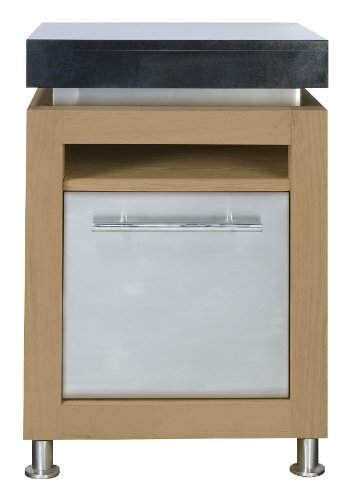 Ingarden Outdoor Kitchen. Compact Oak , Stainless Steel & Granite Outdoor Kitchen Work Station