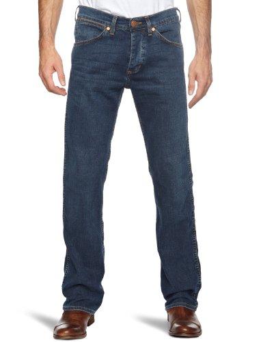 Wrangler Ace Indigo Linen Straight Men's Jeans Indigo Linen W38 INxL34 IN