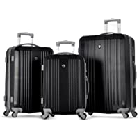 Olympia Corsair Expandable Hardcase Spinner 3 Piece Set (Black)