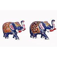Double Metal Elephant Statue, Antique Showpiece, Beatutiful Design Elephant, Hand Carved Elephant Sculpture,Home...