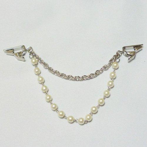 [LJ6363] stall pinned shawl s Cardigan pinned Pearl Pearl silver colour-Womens-mens