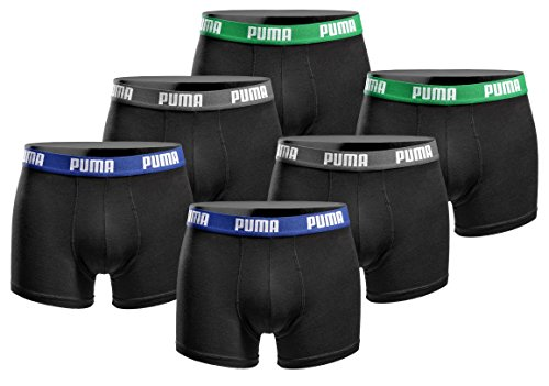 puma-herren-boxershort-basic-limited-black-edition-6er-pack-green-black-gr-l