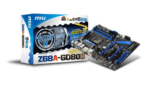 MSI Intel Z68 (B3) Chipset ATX DDR3 1066 Intel - LGA 1155 Motherboards Z68A-GD80 (G3)