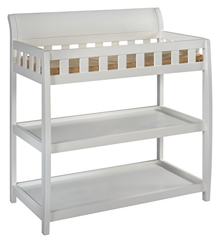 Delta Children Bentley Changing Table, White (White Changing Table Side compare prices)