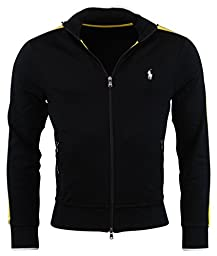 Polo Ralph Lauren Mens Full Zip Performance Cotton Track Jacket - XL - Black/Yellow