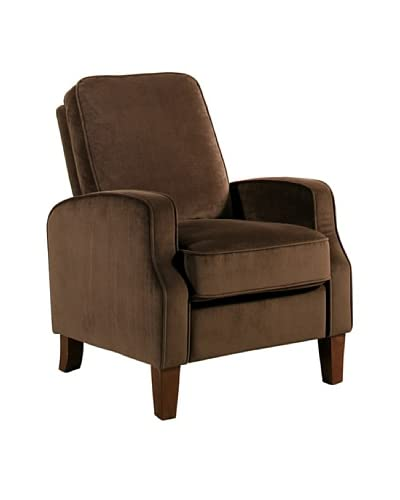 abbyson living snapper microsuede pushback recliner dark brown abbyson
